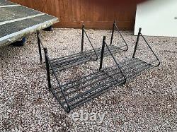 Horse box rug rack 4 foot wall mounted storage tack rack hay rack x2 7.5t