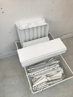 IKEA ALGOT wall-mounted storage, 6 baskets, 18 shelves, 2 shoe racks, 5 uprights