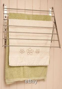 Ikea Clothes Drying Rack Foldable Laundry Hanger Wall Mount Stainless steel Dorm