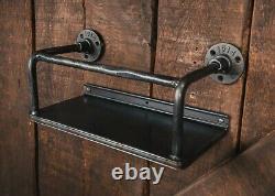 Industrial wine rack wall mounted bar drinks cabinet industrial metal shelf