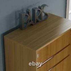 Kirkham Mirrored Shoe Cabinet Storage Cupboard Footwear Stand Rack Oak 180cm