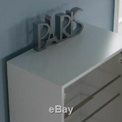 Kirkham Shoe Cabinet Mirrored Storage Cupboard Footwear Stand Rack White 180cm