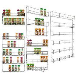 Kitchen Cupboard Door Wall Mounted 2 3 4 5 & 6 Tier Spice Jar Rack Storage Unit