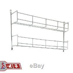 Kitchen Cupboard Wall/Door Mount 2-Tier Spice Jar Rack Storage Unit Organiser