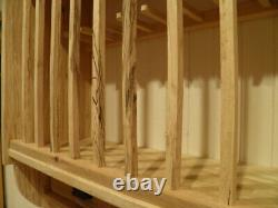 Kitchen Plate Rack Storage Solid English Spalted Beech Wall Mounted