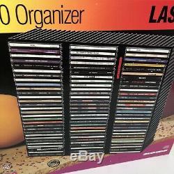 LASERLINE 90 CD CD90 Wall Mount Case Black Plastic Storage Rack Organizer Holder