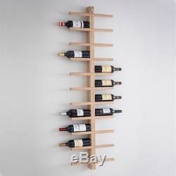 Large Garden Trading Raw Oak Wine Rack Wall Mounted