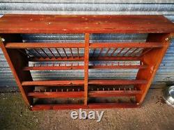 Large Original Vintage Penny Pine Plate Rack And Mug Holder