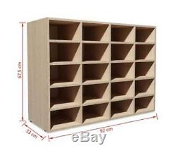 Large Shoe Compartments Rack Unit Cloakroom Hallway Football Boot Dressing Room