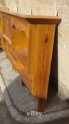 Large Solid Pine Wall Mounted Country Farmhouse Kitchen Storage Unit Plate Rack
