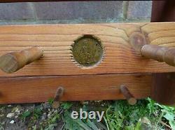 Large Vintage Penny Pine 20 Plate Rack And 16 Mug Holder