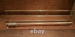 Large Vintage metal wall mounted luggage rack coat hook rail 1945/55 Art Deco