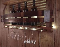 Lighted Barn wood wine rack