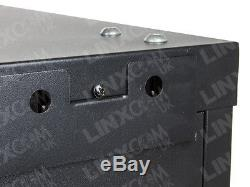 Linxcom 15U 19 Network Wall Cabinet Data Comms Rack 600x450mm Black Data Comms