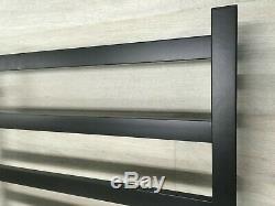 MATT BLACK Electric Heated 304 s/steel Towel Rack 15 Bars hard wired AU standard