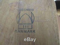 MID Century 1964 Digsmed Denmark Teak Wood 12 Jar Wall Mounted Spice Rack 16.5