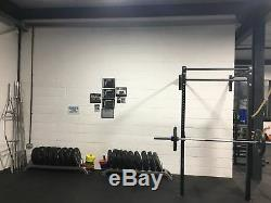 MONSTER DOUBLE POWER RACK WALL MOUNTED & SQUAT RIG PULL UP STATION CrossFit