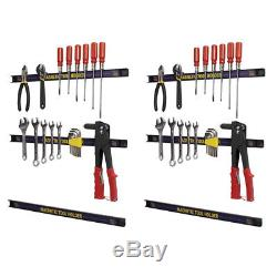 Magnetic Tool Holder Rack Wall Mounted Storage 24 Bar 6 Strip Set for Tools New