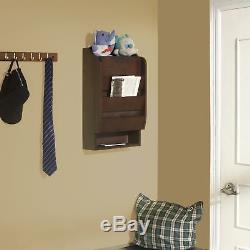 Mail Wall Rack Mount Storage Wooden Organizer Key Holder Cabinet Office Home NEW