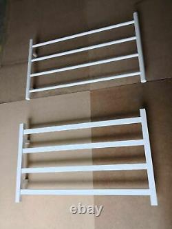 Matte white Black NON Heated Towel Rail rack Round 4 bar 850 mm wide 510 h 2020