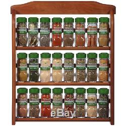 McCormick Gourmet Organic Wood Spice Rack, 24 Herbs & Spices, Holiday Spice Gift
