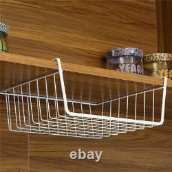 Med/large White Under Shelf Storage Basket Rack Kitchen Cabinet Pantry Organizer