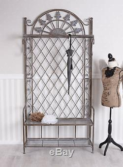 Metal Clothes Stand Wardrobe Stand with Shoe Rack Coat Rack Wall Mounted Cottage