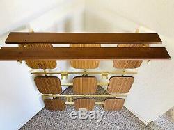 Mid Century Coat Rack Vintage Wall Coat Rack mountable 50s 70s Wooden Coat Rack