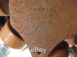 Mid-century Teak Danish Digsmed Wall Mounted Rotating 8 Jar Spice Rack Utensil