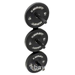 Mirafit Olympic Weight/Bumper Plate Wall Storage Rack Gym Studio Mounted Poles