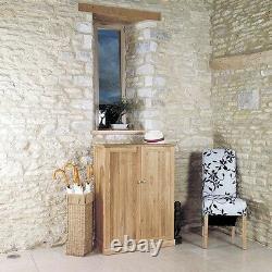 Mobel Solid Oak Wooden Furniture Large Shoe Storage Cupboard Cabinet Rack