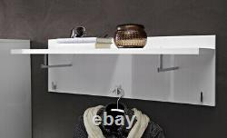 Modern Hallway Furniture 4 Set Shoe Storage Coat Rack Cabinet White Gloss Flames