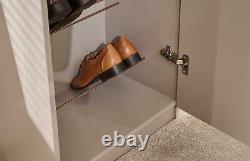 Modern Tall Slim Full Length Mirrored 6 Tiered 24 Pair Shoe Storage Rack Cabinet