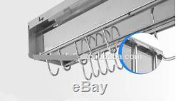 Multipurpose Wall Mounted Hanging Kitchen Utensils Holder Organizer Rack Shelf