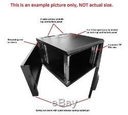 NEW 19 18U 600mm deep wall mount cabinet rack for multiple uses, black color