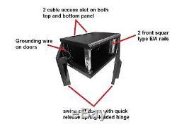 NEW 19 24U 500mm deep wall mount cabinet rack for multiple uses, black color