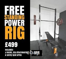 NPR Heavy Duty Squat Rack With Attachments Wall Mounted Or Free Standing
