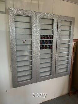 Nail polish display rack wall mounted polish shelf mosaic silver salon furniture