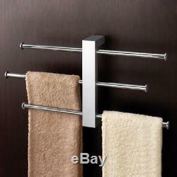 Nameeks 7630-13 Polished Chrome Gedy Wall Mounted Towel Rack with Sliding Rails