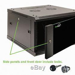 NavePoint 22U IT Wall Mount Network Server Data Cabinet Rack Glass Door Locking
