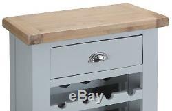 Oak Wine Cabinet / Grey Wine Cabinet / 20 Bottle Wine Rack / Small Wine Cabinet