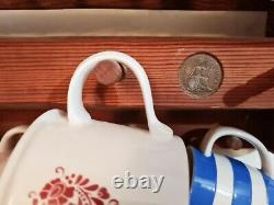 Original Penny Pine Plate Rack And Mug Holder Large Farmhouse Country Style