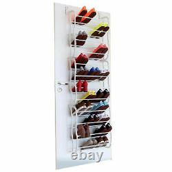 Over Door Hanging Shoe Rack 4/8/12 Tier Shelf Organiser Storage Stand Holder UK