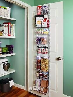 Over The Door Spice Rack Organizer Food Storage Hanger Pantry Shelf Wall Mount