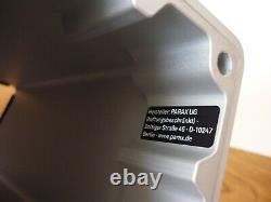 PARAX D-BRIDGE WALL MOUNTED BIKE RACK SILVER/KEBONY WOOD LONG (55cm Handlebars)