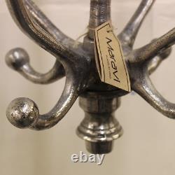 Pahuj Vintage Revolving Coat Rack Wall Mounted Aluminium Coat 4 Triple Hooks