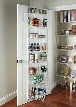 Pantry Door Spice Rack Organizer Over the Door Shelf Kitchen Hanging Wall Mount