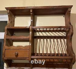 Penny Pine Plate Rack