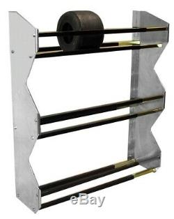 Pit-Pal Products 389 Wall Mount Tire Rack 3 Tier Kart Tires