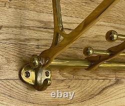 Polished Brass Train Luggage Rack